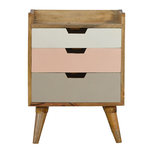 Blush Pink and White Gradient Bedside Table