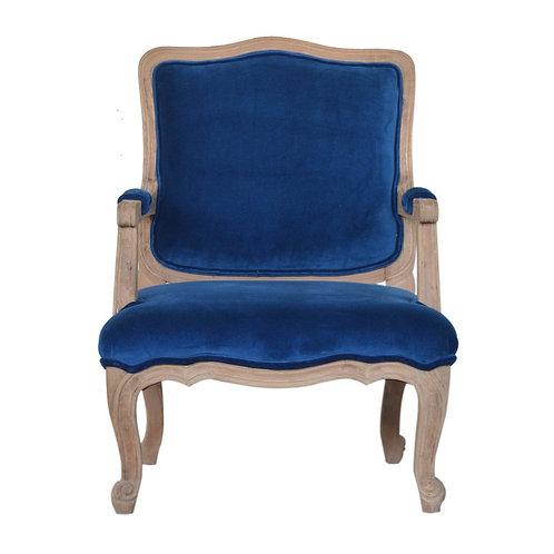Royal Blue Velvet French Style Chair
