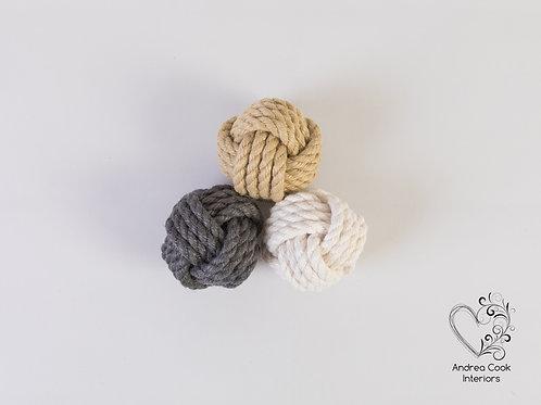 Large Monkey Fist Knot Ornaments - Decoration Balls, Nautical Decor