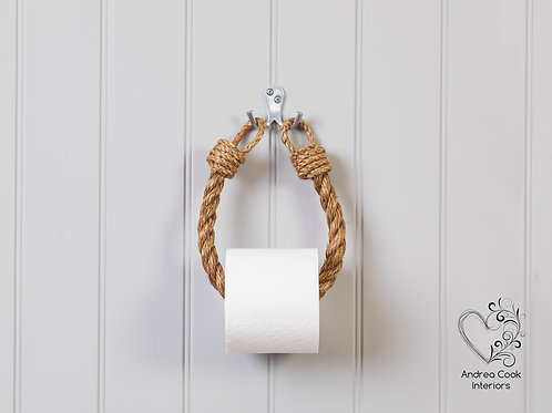 Chunky Manila Rope Toilet Roll Holder - Toilet Paper Holder