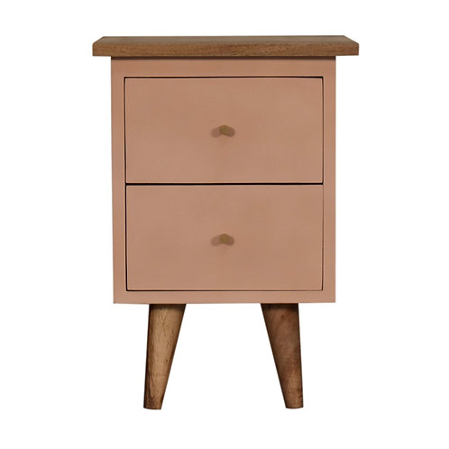 Blush Pink Hand Painted Bedside Table