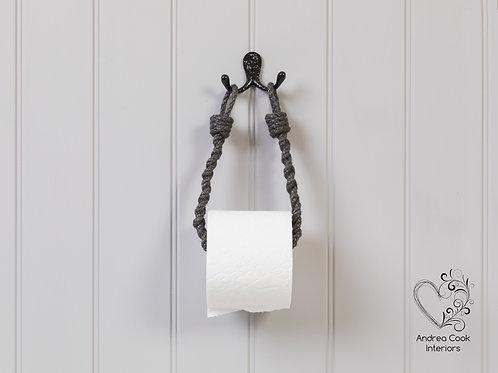 Slim Braided Charcoal Grey Toilet Roll Holder - Toilet Paper Holder