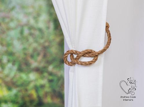 Manila Sailers Knot Curtain Tieback - Nautical Decor, Tie Back,Holdback