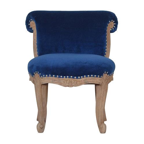 Royal Blue Velvet Studded Chair