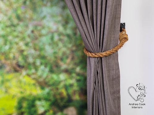 Medium Manila Rope Curtain Tiebacks - Curtain Holdbacks, Hold back, Tie back