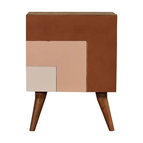 Quebec Brown Bedside Table