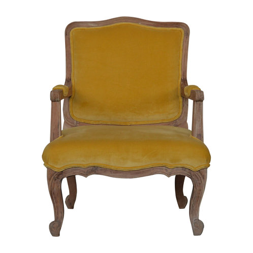 Mustard Velvet French Style Chair