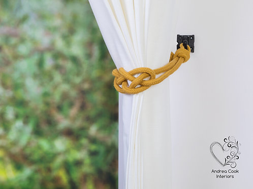 York Gold Carrick Knot Curtain Tiebacks
