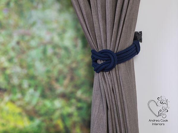 Navy Blue Curtain Tieback