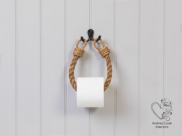 manila nautical rope toilet paper holder