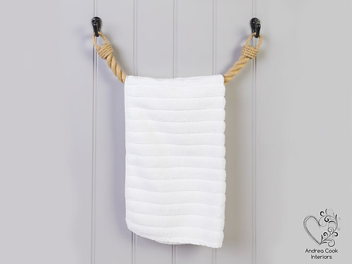 Chunky Beige Rope Towel Rail - Rope Towel Holder