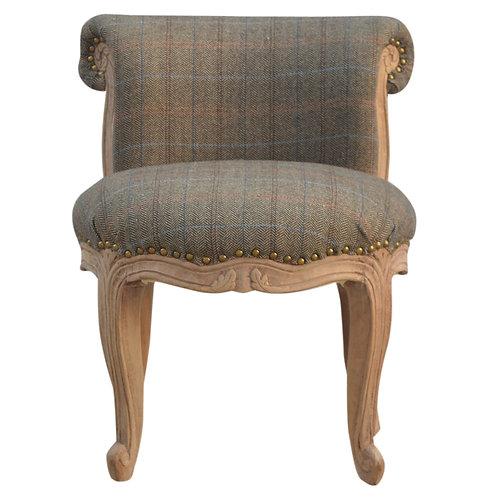Petite Multi Tweed Studded Chair