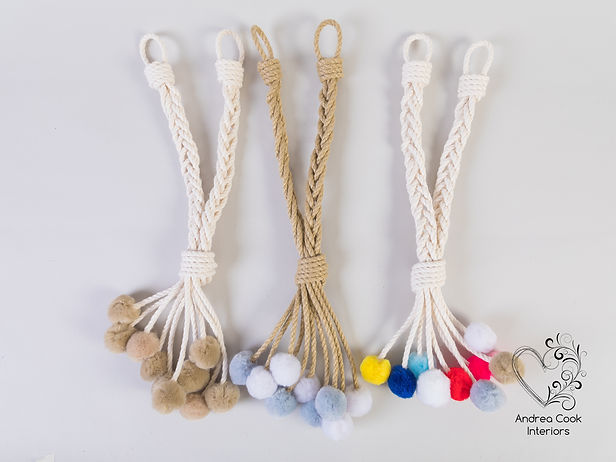 pom pom curtain tiebacks