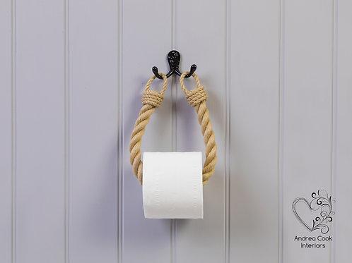 Chunky Beige Rope Toilet Roll Holder - Toilet Paper Holder