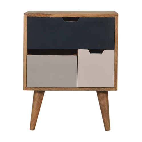 Navy Painted Multi Bedside Table with Removable Drawers