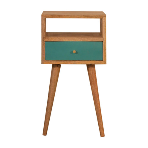 Mini Teal Hand Painted Bedside Table