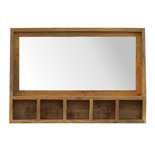 5 Slot Wall Mounted Mirror