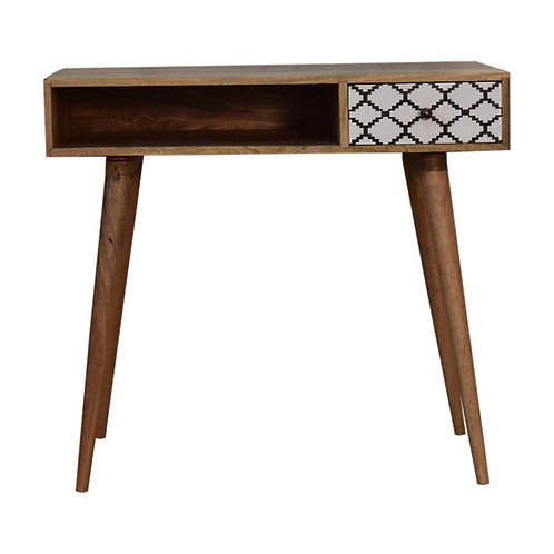 Moroccan Style Screen Printed Writing Desk