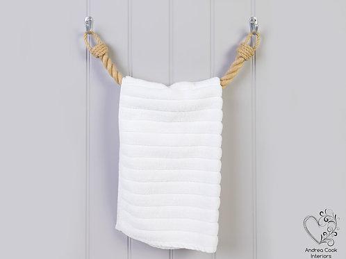 Chunky Beige Rope Towel Rail - Rope Towel Holder