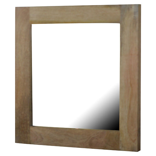 Square Wooden Frame with Mirror