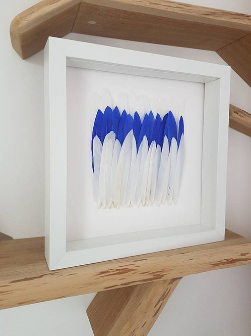 Feather Wall Art - Feather Artwork, Unique Handmade Wall Hanging, Handmade Art