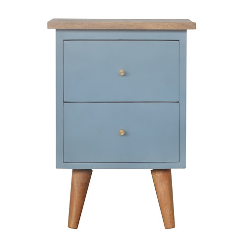 Blue Hand Painted Bedside Table