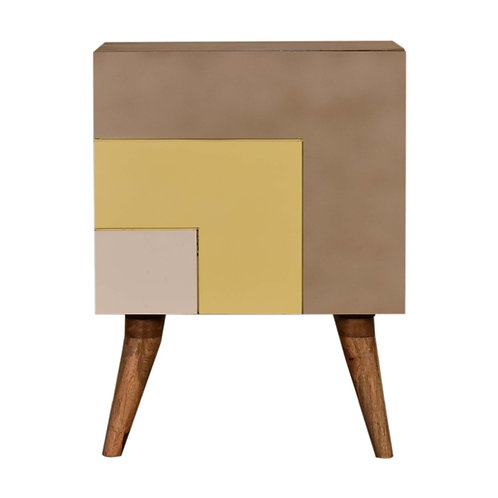 Quebec Yellow Bedside Table
