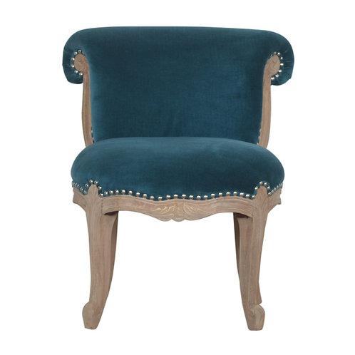 Teal Studded Chair