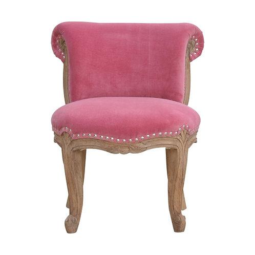 Pink Velvet Studded Chair