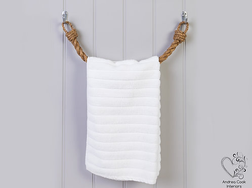 Chunky Manila Rope Towel Rail -  Nautical Rope Towel Holder