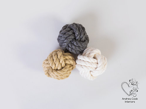 Small Monkey Fist Knot Ornaments - Decoration Balls, Nautical Decor, Decorative