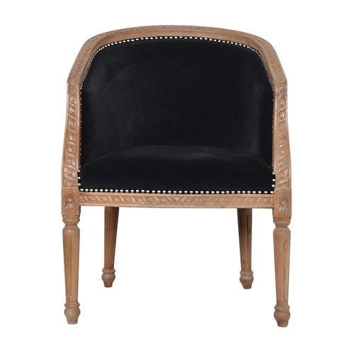 Black Velvet Occasional Chair