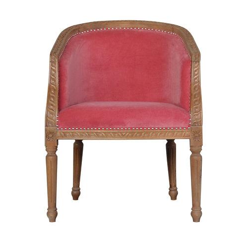 Pink Velvet Occasional Chair