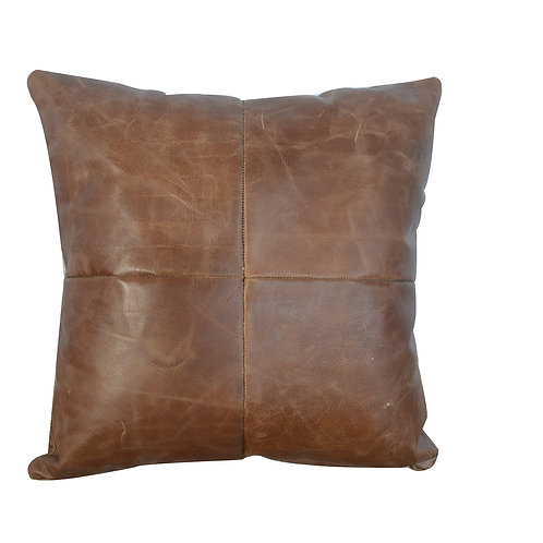 Buffalo Hide Leather Scatter Cushion