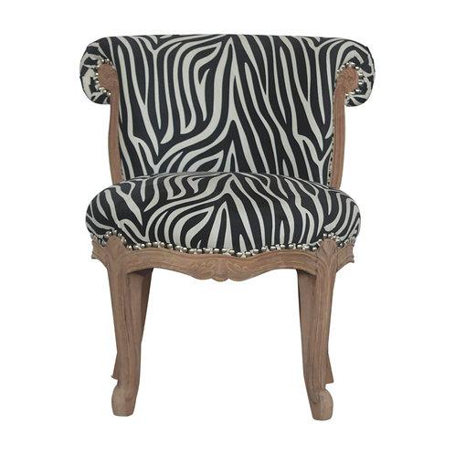 Zebra Print Studded Chair