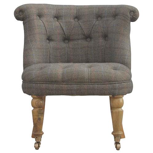 Petite Multi Tweed Accent Chair