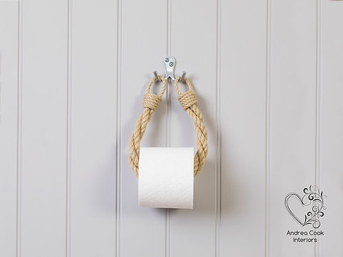 Beige Twisted Rope Toilet Roll Holder - Toilet Paper Holder
