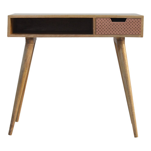 Copper Perforated Writing Desk