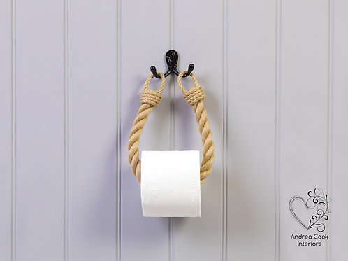 Chunky Beige Rope Toilet Roll Holder - Toilet Paper Holder