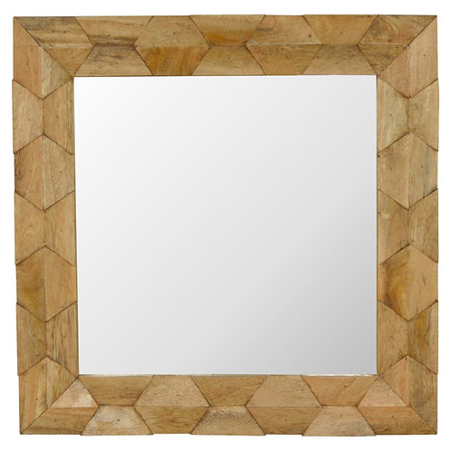 Pineapple Carved Square Mirror