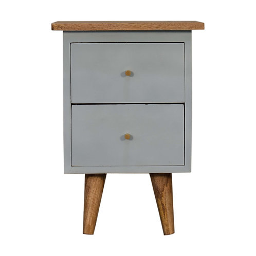 Sky Blue Hand Painted Bedside Table