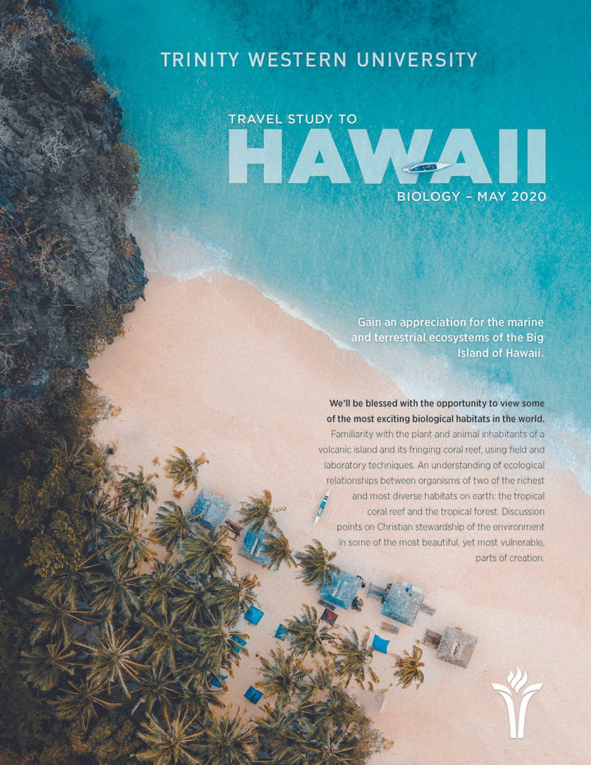 Travel Study 2020 - Hawaii