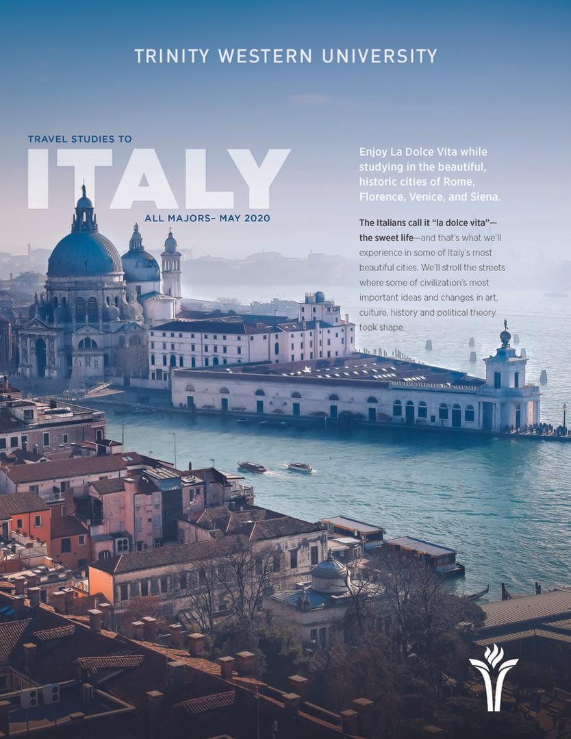 Travel Study 2020 - Italy