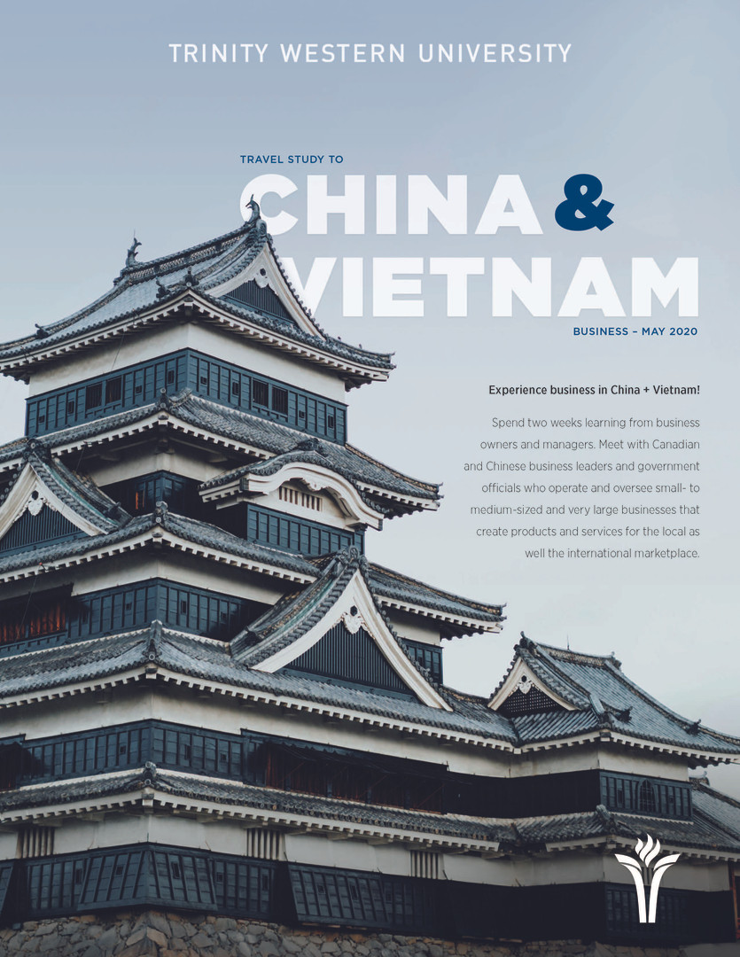 Travel Study 2020 - China & Vietnam