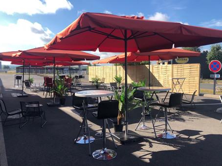 La grande terrasse est sorti en ce vendredi 19 Juin avec ce beau soleil !
