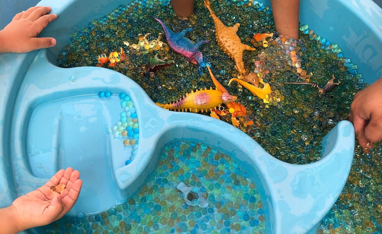 Sensory Play with water beads