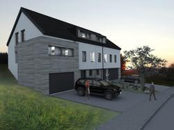 Maison mitoyenne, Huldange (LU)