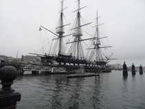 Fregatte USS Constitution, gebaut 1797, das älteste noch schwimmende Kriegsschiff der Welt