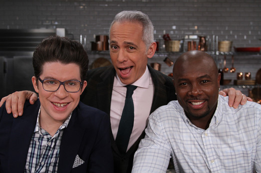 Justin Warner, Geoffrey Zakarian and Edd