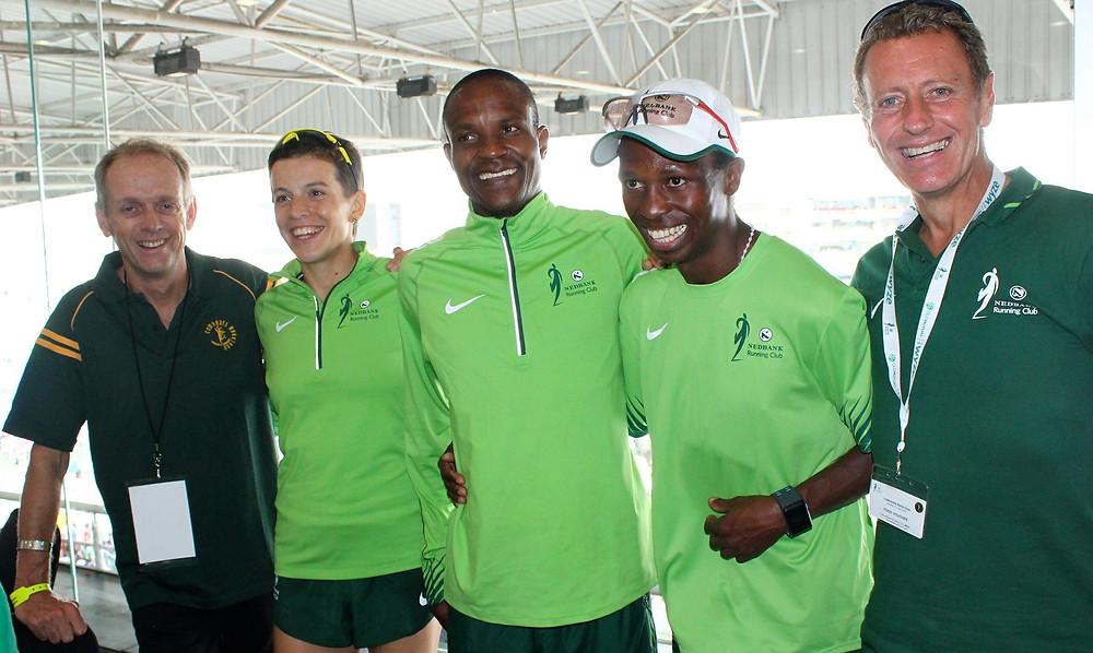 Comrades winners:Bruce Fordyce, Ellie Greenwood, Ludwick Mamabola, Bongmusa Mthembu and Nick Bester.
